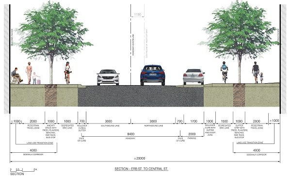 Streetscape design of King Street Waterloo
