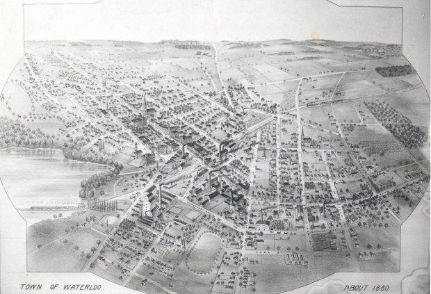 1880 Bird's Eye View